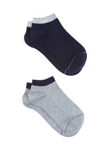 Mavi 2Li Patik Çorap Seti Mavi